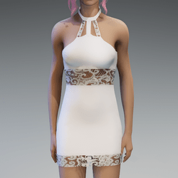 White Lace Partydress V2