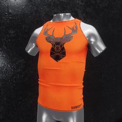 Sleeveless Shirt deer orange
