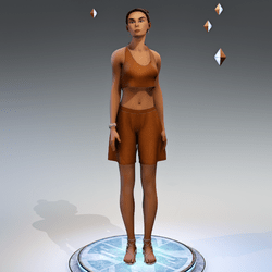 Casual - 30 seconds looping stand - Female