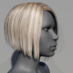 Hair - Asymmetrical Bob - Blonde Swidish