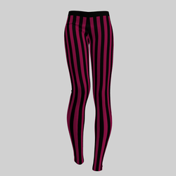 Leggings Maddy Stripes Black & Magenta 2.0