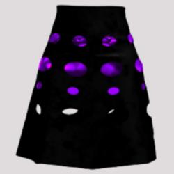Dalek DIsco Skirt (Black/purple)
