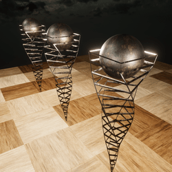 BRONZE LAMPS - ANIMATED LIGHT SCULPTURE