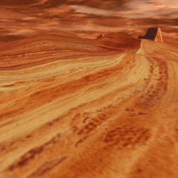 RED CANYON ROCKY HILLS - ENVIRONMMENT SURFACE/SKY PLATFORM