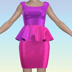 Pink Ombre Dress Shiny