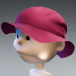 Minis Bucket Sun Hat - Baby Pink