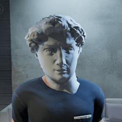 David Classic Statue Head - Male