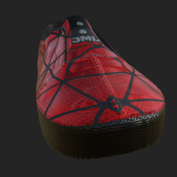 SLIP-ON SHOES MALE  RED BLACK