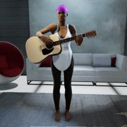 Female Guitar Standing