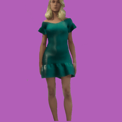 Lois Casual Aqua Short Dress