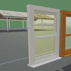 Box Sash Window Furniture No Bars White