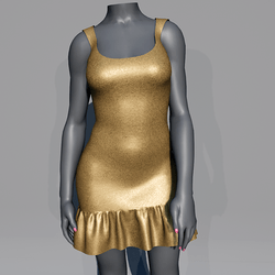 Glitter Party Dress - Gold