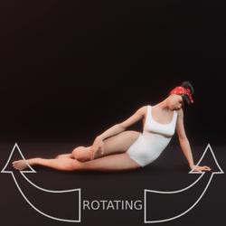 model pose sit 01 rotating