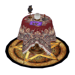 Fortune Teller Table with Owl