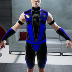 Blue and Black Ninja Outfit