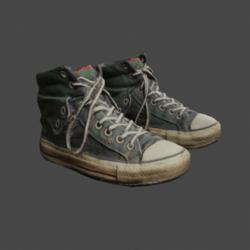 Mens Scruffy Sneakers - Green