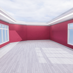Skybox - Pink and White - The Little Room With Ceiling Lamp