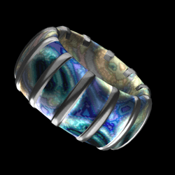 Wrapped Bangle - Ocean