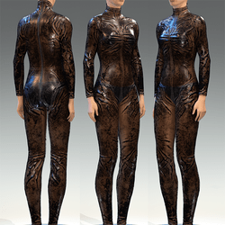 Bodysuit Rubber Catsuit Latex Black Translucent
