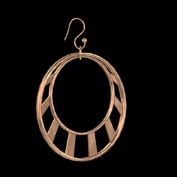 Crescent Earrings Copper