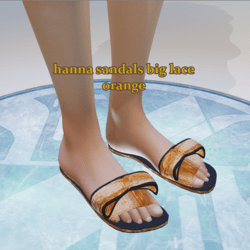 hanna sandals big lace orange