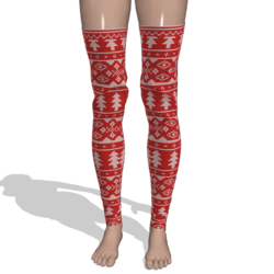 xmas thigh highs