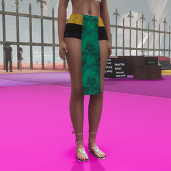 crystal loincloth (green)