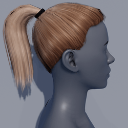 Hair - Pony Tail - Blonde Mocha
