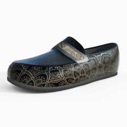 Men's Mocassin Shoes Black Gold
