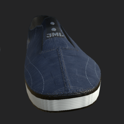 SLIP-ON SHOES MALE BLUE