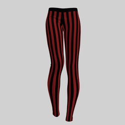 Leggings Maddy Stripes Black & Red 2.0