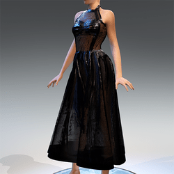 Rubber Dress Black Transparent