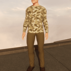 TKA - Outfit camo cotton t-shirt and pant olive
