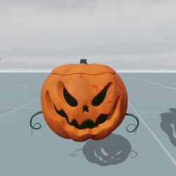 Float Halloween Pumpkin Object
