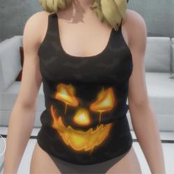 jack o lantern premium slevelees shirt
