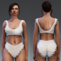 Free Gift ruffle undies and sporty bra with ruffles