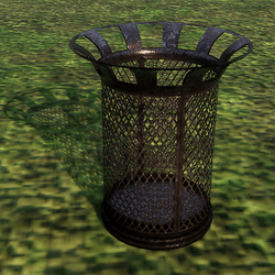 Rubbish Bin with Fishnet