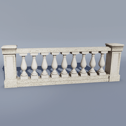 Stone Balustrade and Pillar
