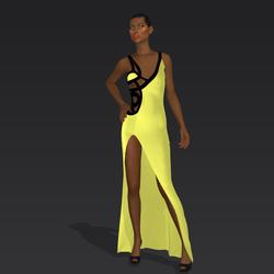 "Amida black yellow ""Elisea Carter"""