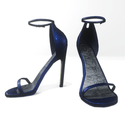 Ankle strap sandals for Nicci- glitter classic blue
