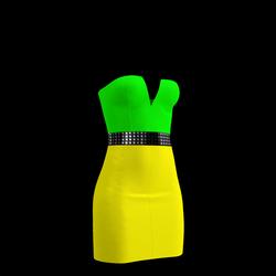 80's Day-Glow Club Dress 21