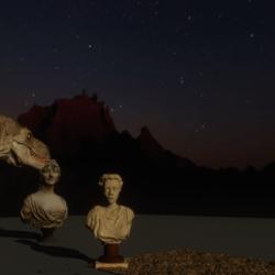 moonrise over the badlands skybox