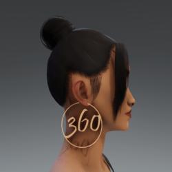 RoseGold 360 Hoop Earrings