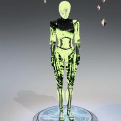Mannequin Robot Female Emissive