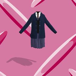 school girl 05 Navy