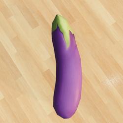 Aubergine Eggplant Recreational Toy v2 - Freebie