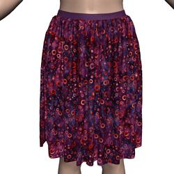 Dynamic Skirt with Dreamy Batik Circles Fabric Texture