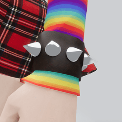 Spiked Leather Wrist Cuff