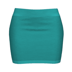 Woman Simple Skirt - Turquoise