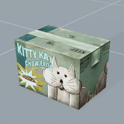 Kitty Kat Chow Food Box